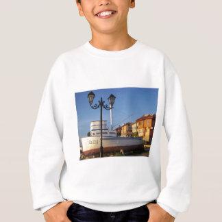 伝統的な漁船 スウェットシャツ