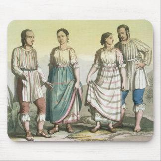 伝統的な衣裳、メキシコのMichoacanのインディアン( マウスパッド