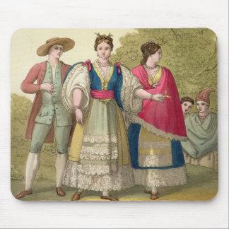 伝統的な衣裳(colのペルーの人そして女性 マウスパッド