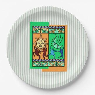 伝統Kwanzaaの要素によっては紙皿がパーティを楽しみます ペーパープレート