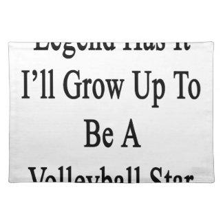 伝説に私がバレーボールの星であるために育つそれがあります ランチョンマット