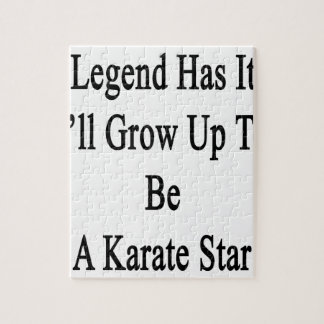 伝説に私が空手の星であるために育つそれがあります ジグソーパズル