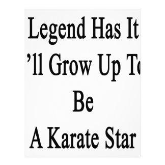 伝説に私が空手の星であるために育つそれがあります レターヘッド