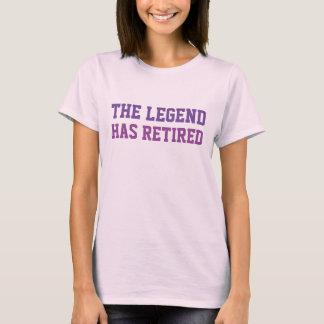 伝説に退職したな紫色があります Tシャツ