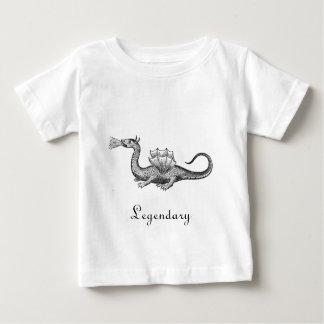 伝説のドラゴンの乳児のTシャツ ベビーTシャツ