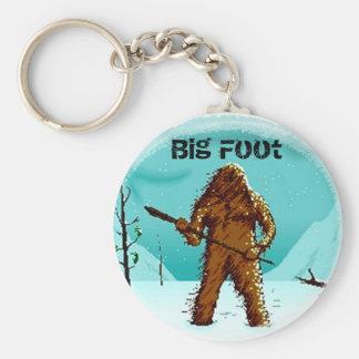 伝説の雪男のビッグフットの大きい足のギフトはカスタマイズ キーホルダー