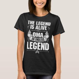 伝説は生きたOmaの無限の伝説のTシャツです Tシャツ