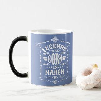伝説は3月(白い文字)に生まれます モーフィングマグカップ