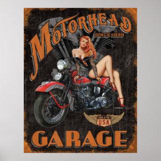 伝説- Motorheadのガレージ ポスター