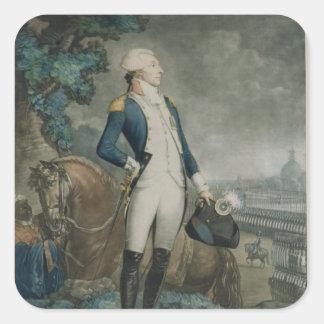 伯爵夫人de La Fayetteのポートレート スクエアシール