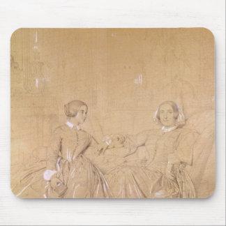 伯爵婦人のチャールズd'Agoultおよび彼女の娘 マウスパッド