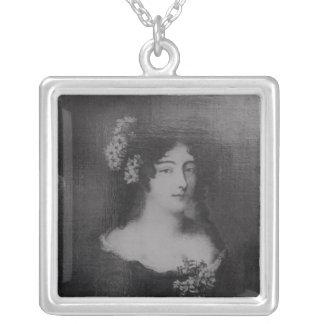 伯爵婦人Ehrengard Melusinaのポートレート シルバープレートネックレス