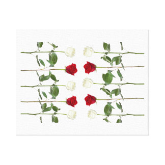 伸ばされたキャンバスのバラのつぼみ キャンバスプリント