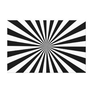 伸ばされたキャンバスのプリントの黒及び白 キャンバスプリント