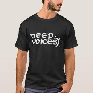 低い声の黒いティー Tシャツ