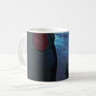 低い多タコは彫刻します コーヒーマグカップ