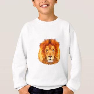 低い多デザイン。 ライオンのイラストレーション スウェットシャツ