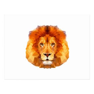 低い多デザイン。 ライオンのイラストレーション ポストカード