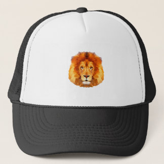 低い多デザイン。 ライオンの絵 キャップ