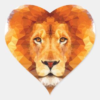 低い多デザイン。 ライオンの絵 ハートシール