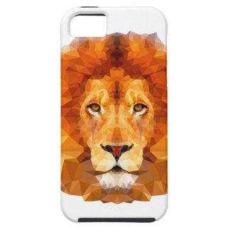 低い多デザイン。 ライオンの絵 iPhone SE/5/5s ケース