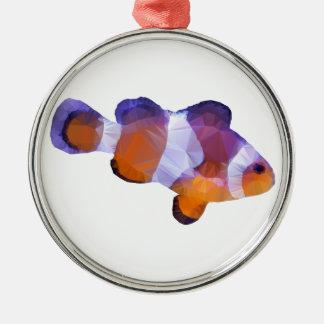 低い多ピエロの魚 メタルオーナメント