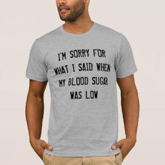 低い血糖 Tシャツ