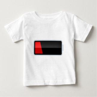 低い電池のTシャツ2 ベビーTシャツ