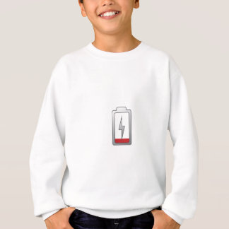 低い電池! スウェットシャツ