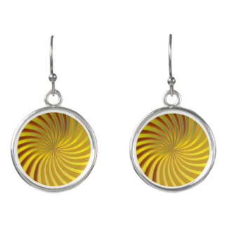 低下のイヤリングの金ゴールドの螺線形渦 イヤリング