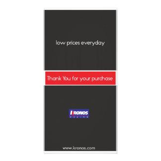 低価格の毎日のありがとうカード 写真カードテンプレート