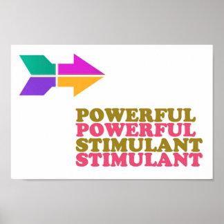 低価格強力な興奮剤の知恵は2ワードを関連付けます ポスター