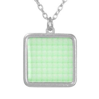 低価格水晶輝きの緑の挨拶のチャーム シルバープレートネックレス