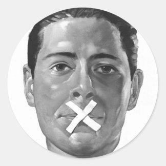 """低俗なヴィンテージのプロパガンダ「緩い唇"""" ラウンドシール"""