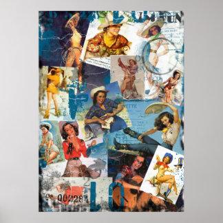 低俗なBitsch: 破壊された女性のカーボーイPin No.2 ポスター