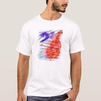 低音のカットシート-ワイシャツに人を配置します Tシャツ