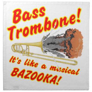 低音のトロンボーンのミュージカルのバズーカ ナプキンクロス