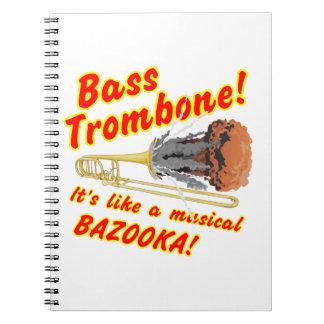低音のトロンボーンのミュージカルのバズーカ ノートブック