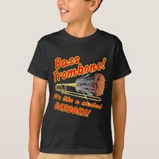 低音のトロンボーンのミュージカルのバズーカ Tシャツ