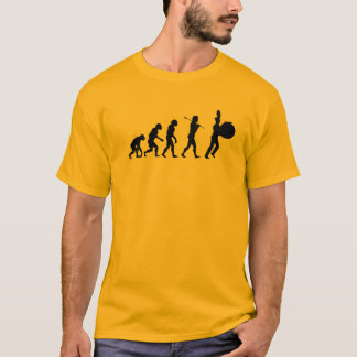 低音のドラマー(薄い色)の進化 Tシャツ