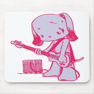 低音の子犬のマウスパッド マウスパッド