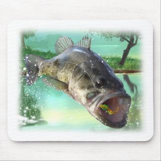 低音の魚の緑 マウスパッド