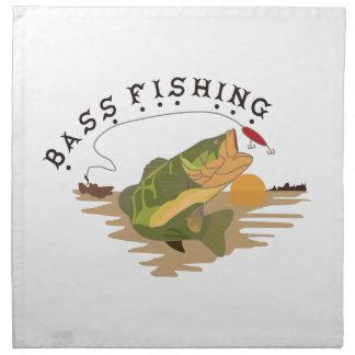 低音の魚釣り ナプキンクロス