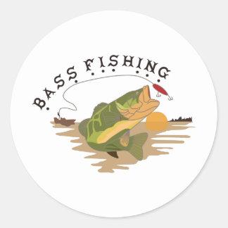低音の魚釣り ラウンドシール