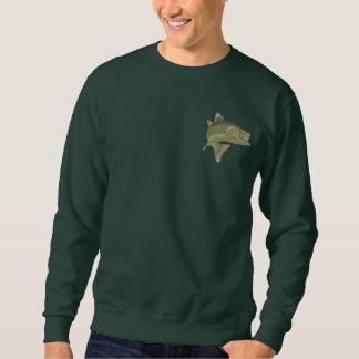 低音の魚釣り 刺繍入りスウェットシャツ