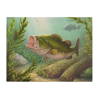 低音の魚 ウッドウォールアート