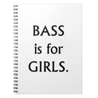 低音は女の子の黒い文字のためです ノートブック