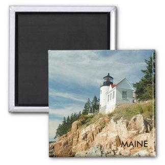 低音港の灯台、メイン 冷蔵庫用マグネット