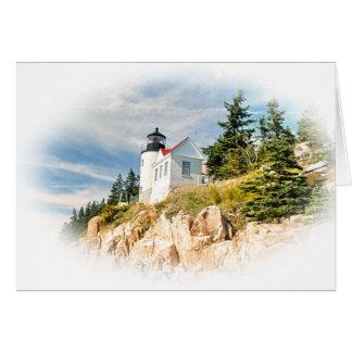 低音港の頭部の灯台、メイン カード