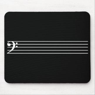 低音部譜表の黒 マウスパッド